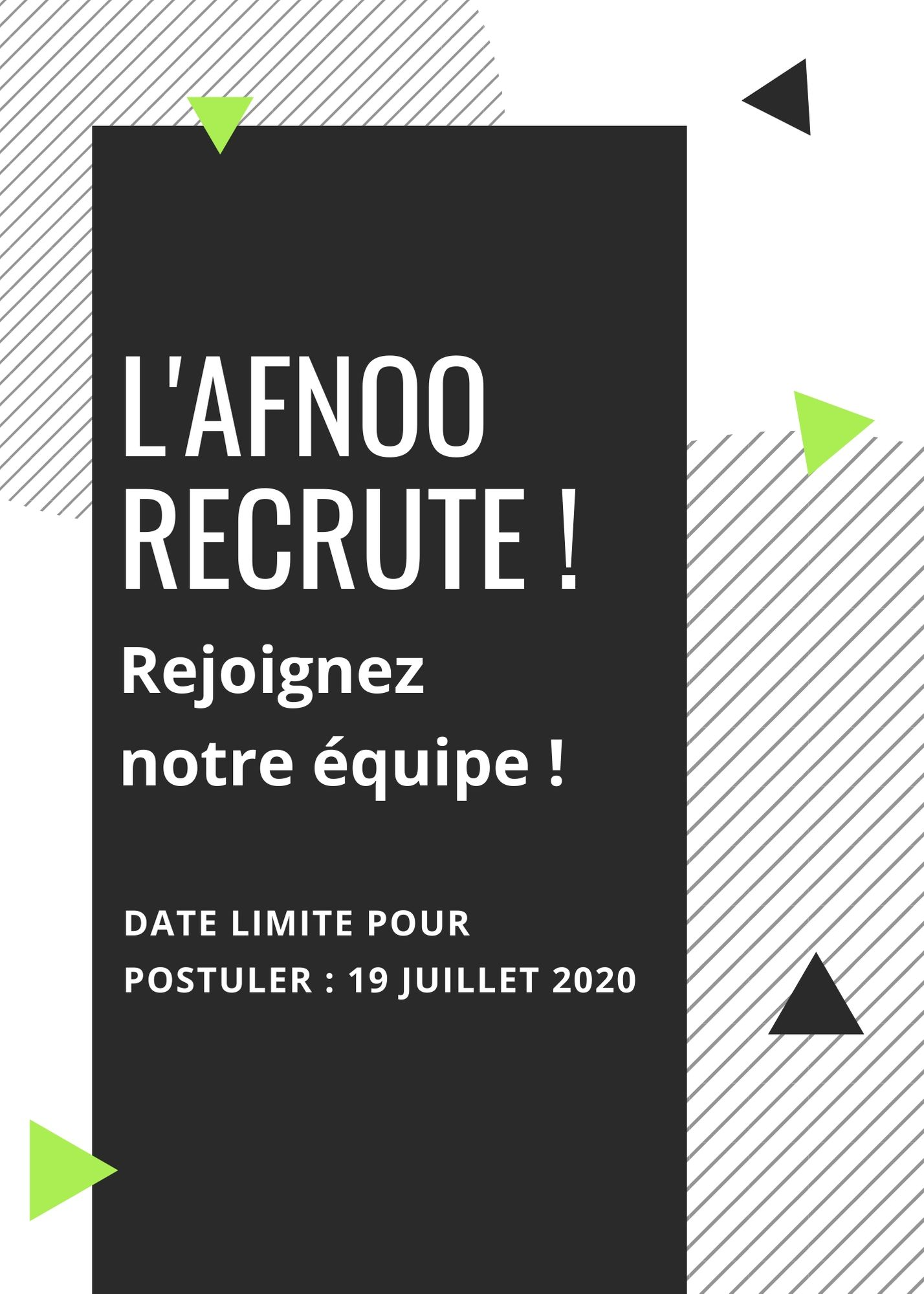 copie de black and white shapes job fair flyer
